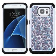 TotalDefense Diamond Hybrid Case for Samsung Galaxy S7 Edge - Persian Paisley