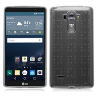 Perforated Transparent Cushion Gelli Case for LG G Stylo / Vista 2 - Smoke