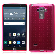 Perforated Transparent Cushion Gelli Case for LG G Stylo / Vista 2 - Hot Pink