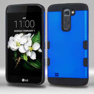 Military Grade TUFF Trooper Hybrid Armor Case for LG K7 / K8 / Escape 3 / Treasure LTE / Tribute 5 - Blue