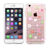 Premium Perforated Transparent Cushion Gelli Case for iPhone 6 Plus / 6S Plus - Tiny Blossoms