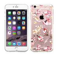 Premium Perforated Transparent Cushion Gelli Case for iPhone 6 Plus / 6S Plus - Painted Flowers