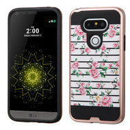 Brushed Graphic Hybrid Armor Case for LG G5 - Fresh Roses