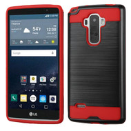 Brushed Hybrid Armor Case for LG G Stylo / Vista 2 - Black Red