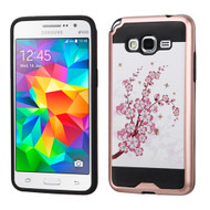 Brushed Graphic Hybrid Armor Case for Samsung Galaxy Grand Prime - Spring Flowers