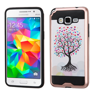Brushed Graphic Hybrid Armor Case for Samsung Galaxy Grand Prime - Love Tree
