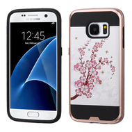 Brushed Graphic Hybrid Armor Case for Samsung Galaxy S7 - Spring Flowers