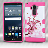 Military Grade Certified TUFF Trooper Dual Layer Hybrid Armor Case for LG G Stylo / Vista 2 - Spring Flowers
