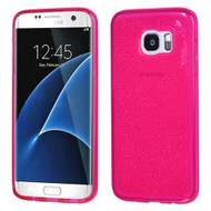 Premium Sparkling Frost Candy Skin Cover for Samsung Galaxy S7 Edge - Hot Pink