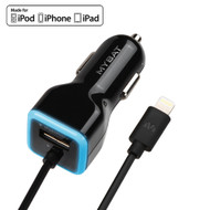 Mybat MFi Apple Certified 2.1A Lightning Car Charger - Black