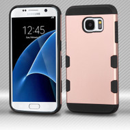 Military Grade Certified TUFF Trooper Dual Layer Hybrid Armor Case for Samsung Galaxy S7 - Rose Gold