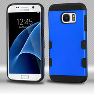 Military Grade Certified TUFF Trooper Dual Layer Hybrid Armor Case for Samsung Galaxy S7 - Blue