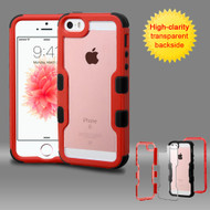 TUFF Vivid Hybrid Armor Case for iPhone SE / 5S / 5 - Red