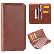 *SALE* Premium Leather Organizer Wallet Case - Brown