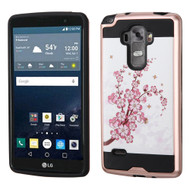 Brushed Graphic Hybrid Armor Case for LG G Stylo / Vista 2 - Spring Flowers