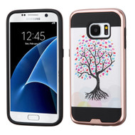 Brushed Graphic Hybrid Armor Case for Samsung Galaxy S7 - Love Tree