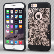 Military Grade TUFF Trooper Dual Layer Hybrid Case for iPhone 6 Plus / 6S Plus - Leaf Clover Rose Gold
