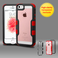 TUFF Vivid Hybrid Armor Case for iPhone SE / 5S / 5 - Black Red