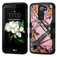 Military Grade TUFF Image Hybrid Armor Case for LG K7 / K8 / Escape 3 / Treasure LTE / Tribute 5 - Pink Oak Camouflage
