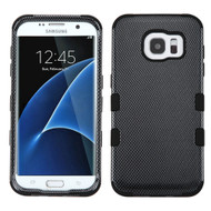 Military Grade Certified TUFF Image Hybrid Case for Samsung Galaxy S7 Edge - Carbon Fiber
