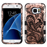 Military Grade Certified TUFF Image Hybrid Case for Samsung Galaxy S7 - Phoenix Flower Rose Gold
