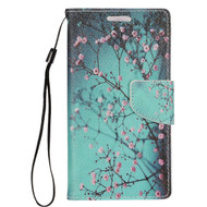 Executive Graphic Leather Wallet Case for Samsung Galaxy S7 Edge - Sakura