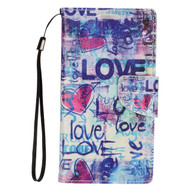 Executive Graphic Leather Wallet Case for Samsung Galaxy S7 - Love