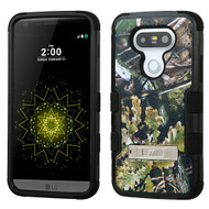 Military Grade Certified TUFF Image Hybrid Armor Case with Stand for LG G5 - English Oak Camouflage
