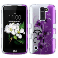 Military Grade Certified TUFF Hybrid Case for LG K7 / Treasure LTE / Tribute 5 - Twilight Petunias
