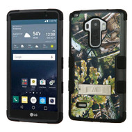 Military Grade Certified TUFF Image Hybrid Kickstand Case for LG G Stylo / Vista 2 - English Oak Camouflage