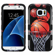 Military Grade Certified Military Grade TUFF Image Hybrid Case for Samsung Galaxy S7 - Basketball Hoop