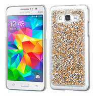 *Sale* Desire Bling Bling Crystal Cover for Samsung Galaxy Grand Prime - Rhinestones Gold