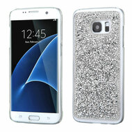 Desire Bling Bling Crystal Cover for Samsung Galaxy S7 Edge - Rhinestones Silver