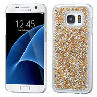 Desire Bling Bling Crystal Cover for Samsung Galaxy S7 - Rhinestones Gold