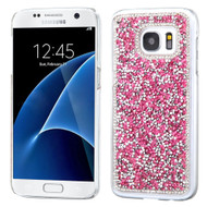 Desire Bling Bling Crystal Cover for Samsung Galaxy S7 - Rhinestones Hot Pink