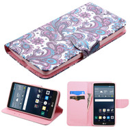 Executive Graphic Leather Wallet Case for LG G Stylo / Vista 2 - Persian Paisley