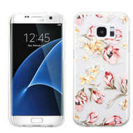 Premium Perforated Transparent Cushion Gelli Case for Samsung Galaxy S7 Edge - Painted Flowers