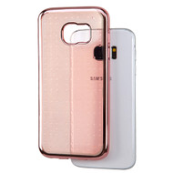 SPOTS Electroplated Premium Candy Skin Cover for Samsung Galaxy S7 Edge - Rose Gold 005