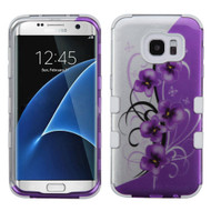 *SALE* Military Grade TUFF Image Hybrid Case for Samsung Galaxy S7 Edge - Twilight Petunias