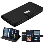 *SALE* Essential Leather Wallet Stand Case for LG G Stylo / Vista 2 - Black