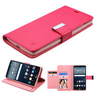 *Sale* Essential Leather Wallet Stand Case for LG G Stylo / Vista 2 - Hot Pink