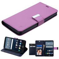 Essential Leather Wallet Stand Case for LG G Stylo / Vista 2 - Purple
