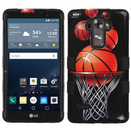 Military Grade Certified TUFF Image Hybrid Case for LG G Stylo / Vista 2 - Basketball Hoop