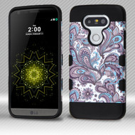 Military Grade Certified TUFF Trooper Dual Layer Hybrid Armor Case for LG G5 - Persian Paisley