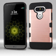 Military Grade Certified TUFF Trooper Dual Layer Hybrid Armor Case for LG G5 - Brushed Rose Gold