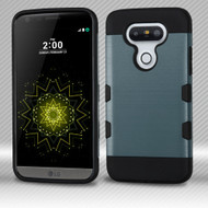 Military Grade Certified TUFF Trooper Dual Layer Hybrid Armor Case for LG G5 - Brushed Slate Blue