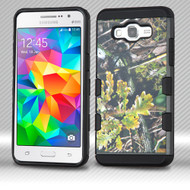 Military Grade Certified TUFF Trooper Hybrid Armor Case for Samsung Galaxy Grand Prime - English Oak Camouflage