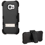 TUFF Hybrid Kickstand Case with Holster for Samsung Galaxy S7 Edge - Black
