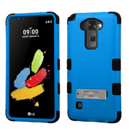 Military Grade Certified TUFF Hybrid Armor Case with Stand for LG G Stylo 2 / Stylus 2 - Blue