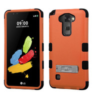 Military Grade Certified TUFF Hybrid Armor Case with Stand for LG G Stylo 2 / Stylus 2 - Orange
